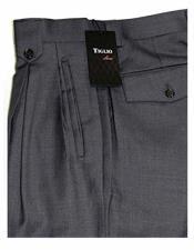 JSM-1521 Mens Tiglio Grey 100% Wool 1920s 40s Fashion