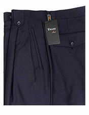 JSM-1516 Mens Tiglio Navy Blue 100% Wool Italian Style