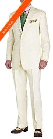 ND7722 Suit Ivory 2-Button Style Perfect For Wedding +