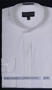 PN_J5 Banded Collar Dress Shirt Ivory