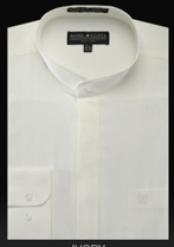 YX534 Basic Banded Collar dress shirts no collar mandarin
