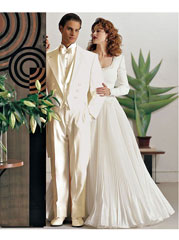 ER9824 Ivory ~ Cream OFF White Tailcoat Long Tuxedo