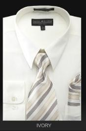 KN7289 Dress Shirt - PREMIUM TIE - Ivory