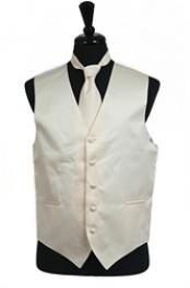 VS1034 Vest Tie Set Ivory