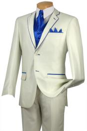 QJJ33 Tuxedo royal blue pastel color Trim Microfiber Two