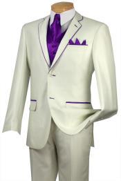 EDD8 Tuxedo Purple color shade Trim Microfiber Two Button