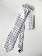 Tie Set Ivory/White With