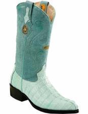JSM-2235 Mens Genuine Caiman Tail J Toe Handmade With
