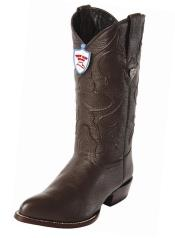 JSM-4110 Mens Wild West Brown Handcrafted Genuine Elk Leather