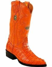 JSM-2230 Mens Genuine Caiman Tail Full Leather Lining J