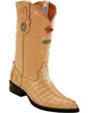 JSM-2238 Mens Genuine Caiman Tail J Toe Style Handmade