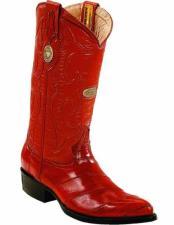 JSM-2240 Mens Genuine Eel Skin J Toe Style Handcrafted