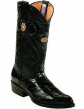 JSM-2241 Mens Genuine Eel Skin Handcrafted J Toe Style