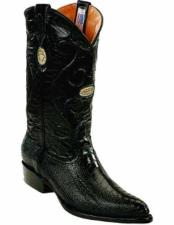 JSM-2279 Mens Genuine Ostrich Leg Skin With Replaceable Heel
