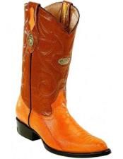 JSM-2273 Mens Genuine Ostrich Leg Skin Buttercup Boots With