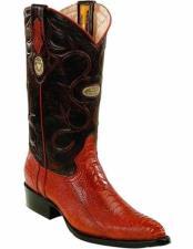 JSM-2275 Mens Genuine Ostrich Leg Skin J Toe Style