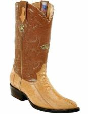 JSM-2277 Mens Genuine Ostrich Leg Skin J Toe Style
