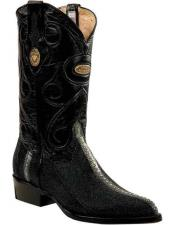 JSM-2284 Mens Genuine Stingray J Toe Style Leather Handmade