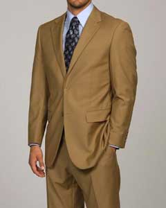 DA1113 Camel ~ Khaki 2-button Suit