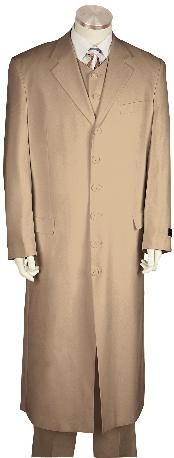 GP8171 Fashionable Long length Zoot Suit Khaki