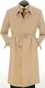 Full Length Trench Rain Coat In Khaki ~ Tan