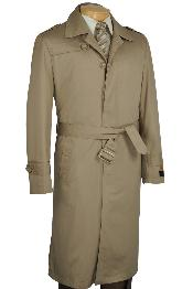 KH2271 Khaki Single Breasted Trench Coat