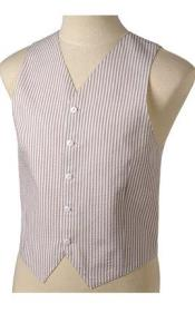 JR70W Khaki and White Stripe ~ Pinstripe Summer Cheap