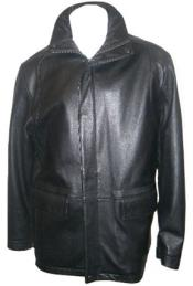 MK839 Hidden Hood with New Zealand Lamb Leather Zip