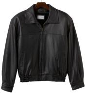 MK832 Lamb Leather with Zip-Out Liner Bomber Jacket Liquid