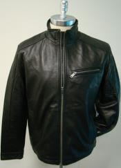 MK843 New Zealand LambSkin with zipper chest pocket Racing