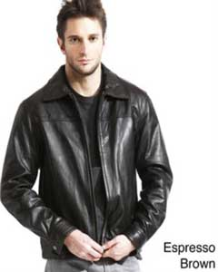 AC-210 Genuine Lambskin Leather Jacket Blackbrown color shade Available