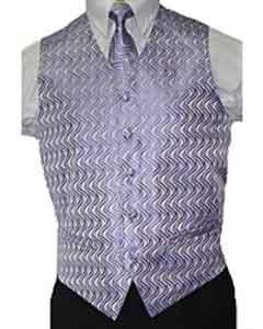 Lilac Lavender Vest Tie 4-Piece