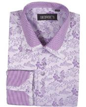 High Collar Club Style Lavender