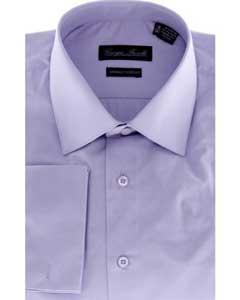 Modern-Fit Dress Shirt Solid Lavender