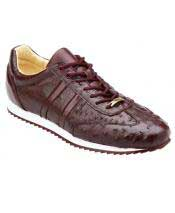 GD1746 Mens Lace Up Genuine Ostrich Casual Leather Dark