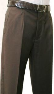 SW975 Leonardo Valenti Single Pleated Slacks Dress Pants Roma