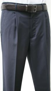 SW972 Leonardo Valenti Single Pleated Slacks Dress Pants Roma