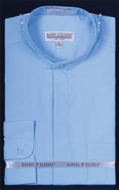 PNQ53 Banded Collar dress shirts without collars no collar