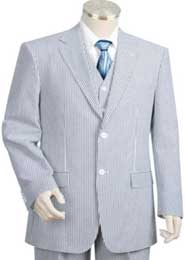 Sear Sucker Suit Seersucker Suit BlueoffWhite