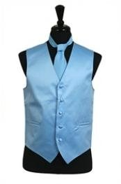 VS1024 Vest Tie Set Light Blue
