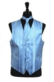 VS4018 Vest/Tie/Bowtie Sets (Light Blue Tone on Tone)