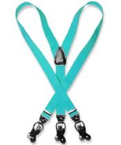 K7VR turquoise ~ Light Blue Stage Party Blue Suspenders