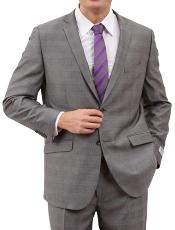 M160S000 Light Grey 2 Button Style Front Closure Suit