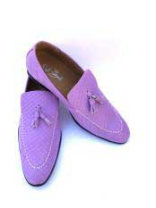 JSM-5027 Mens Slip-On Style Gator Fashionable Light Purple ~