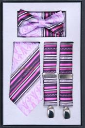 JN74 Suspender Tie Bow Tie ~ Bowtie and Hanky