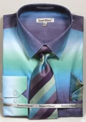 GD1496 Mens colorful dress shirts Aqua