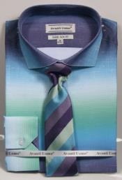 GD1500 Mens Aqua Colorful Dress Shirts