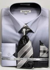 GD1497 Mens Black Colorful Dress Shirts