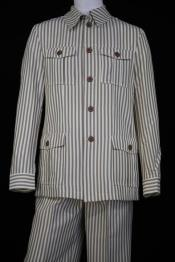 Mens Victorian Stripe Long