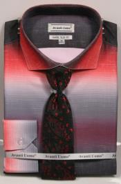 GD1503 Mens Colorful Red Dress Shirts